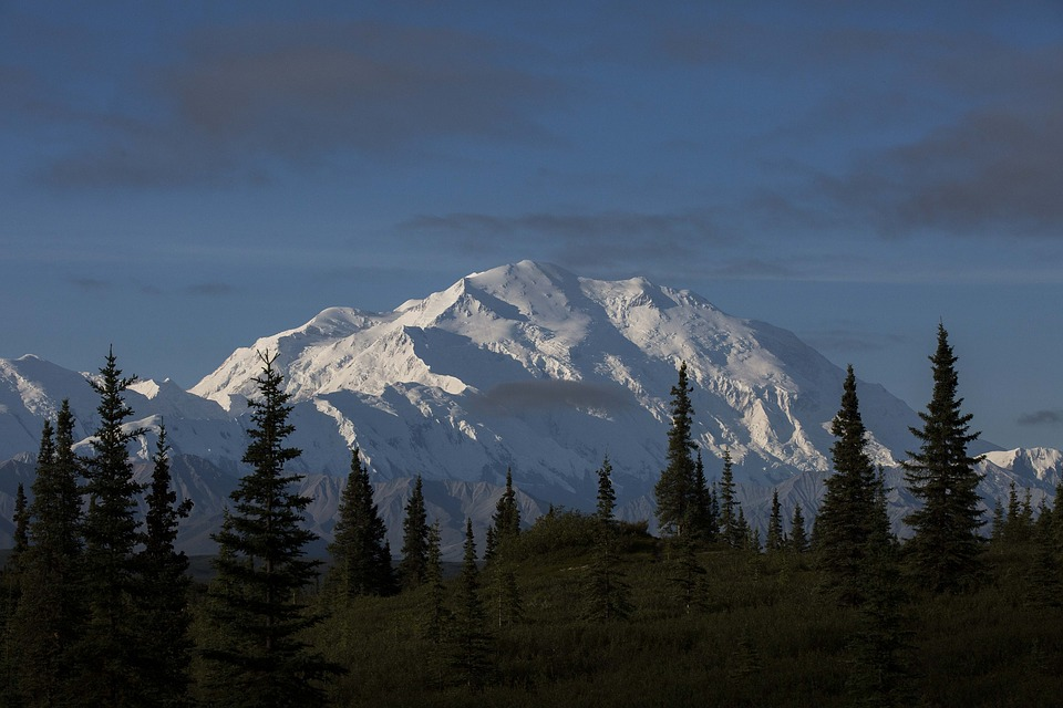 Alaskan mountain scene