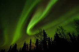 Aurora Borealis in green